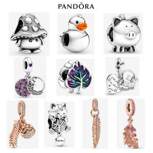 New Genuine ALE S925 Pandora Leaf Duck Kitten Charm With Gift Box