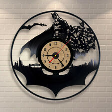 Classic Old Record Concept Batman Wall Clock Antique Retro CD Vinyl Clocks