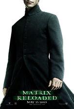 MATRIX RELOADED 2003 Keanu Reeves, Carrie-Anne Moss, Hugo Weaving US 1-SHEET
