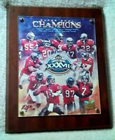 TAMPA BAY BUCCANEERS 8x10 Team Photo SUPER BOWL XXXVII CHAMPIONS Wood Plaque NFL