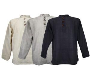 XXL - XXXL Fischerhemd Freizeithemd Yoga Hemd Indien Hippie Baumwolle Cotton