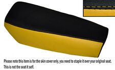 BLACK & YELLOW CUSTOM FITS YAMAHA DT 175 MX 78-79 DUAL LEATHER SEAT COVER