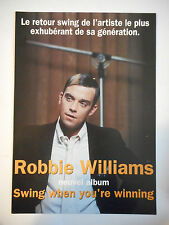 ▓ PLAN MEDIA 4 PAGES ▓ ROBBIE WILLIAMS : SWING WHEN YOU'RE WINNING