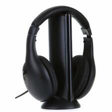 5 en 1 Auriculares inalámbricos Sobre las Orejas Auricular inalámbrico de juegos de TV Radio de teléfono de la música