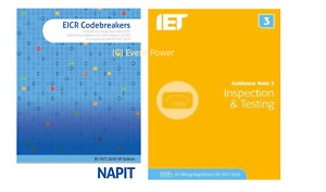 NAPIT EICR Codebreakers Updated & GN3 Inspection & Testing NEW BS7671 2391