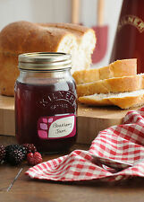 Ensemble de 6 vis KILNER 500ml top glass jam chutney préserver pots jarres de stockage