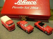 Schuco Piccolo-Set 2004 VW T1 + VW 1500 + Karmann 05802