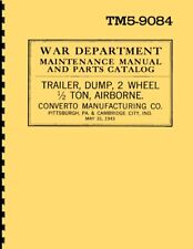 TM5-9084 ~ Maint Manual & Parts for ½T Converto Trailer ~ WWII ~ 1943 ~ Rprint
