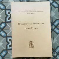 Agenda Delle Inventari Général Di Île-de-france 1983