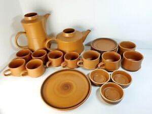 Purbeck Pottery Dinner Set Toast Sunshine Orange Warm Kettle Glasses Plates