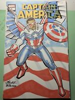 captain america 1 original sketch cover variant sam wilson falcon winter soldier