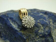 Brillant Anhänger 585 Gold Diamanten 0,70ct Kettenanhänger Bicolor