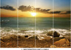 Beach Sea Sunset Clouds Sky Nature Photo Wallpaper Wall Mural Home Bedroom Deco