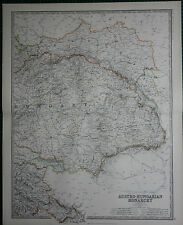 1887 LARGE VICTORIAN MAP ~ AUSTRO-HUNGARIAN MONARCHY EASTERN ~ GALICIA