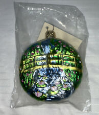 Patricia Breen Monet Japanese Bridge Water Lily Medallion Glass Ornament, 1996