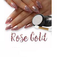 Silver Rose Gold Mirror Powder Chrome Effect Nail Powder Gel Polish