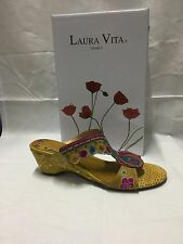 ladies shoes Laura Vita Vautre yellow size 9 Made In France