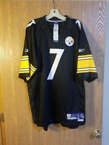 Ben Roethlisberger Pittsburgh Steelers Sewn Reebok On Field Jersey Adult XL NWT