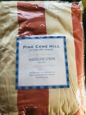 Pine Cone Hill Queen Madeline Stripe Terracotta Bed Skirt Nwt