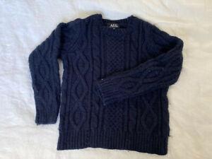 APC navy wool jumper sz S