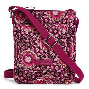 Vera Bradley Raspberry Medallion Performance Twill Mini Hipster crossbody bag