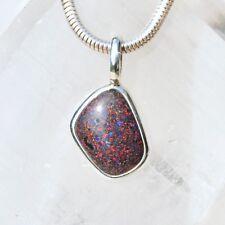 Honduras Opal Anhänger, 925er Silber, Edelsteinanhänger (12183), Schwarz Opal