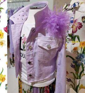 ELSY Girls edle Jeansjacke ERSILLA m. Kristallen* Lavendel* Gr.128-164 NEU%%%