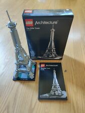 LEGO Architecture The Eiffel Tower set # 21019 with Box & Instruction booklet