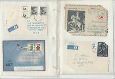 Poland Stamp Collection Blue Binder Stuffed With 45 Pages of Covers