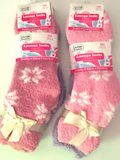 4 Pairs Ladies Soft Fluffy Lounge Cosy Bed Socks Shoe Winter Warm Mixed Patterns