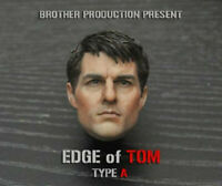 "1/6 Tom Cruise Male Head Carved Sculpt Brother Production F 12"" Figure Toy Model"