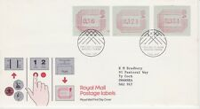 GB Stamps First Day Cover Machin Definitives Three Frama Low Values SHS 1984
