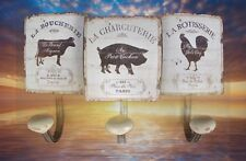 Antique Furniture Wardrobe 3er Wall Hook Shield Iron Hanging Storage Lilacs Vintage Aesthetics
