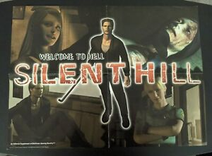 Silent Hill 1 & Castlevania 2-sided - 1999 Promo Poster from EGM