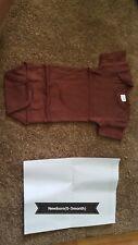 Blank, short sleeve, baby body suit, newborn, brown