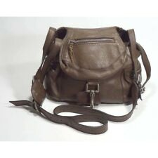 Jigsaw Brown Hardware Leather Purse Bag With Zip Magnet and Hook $275