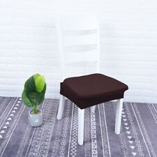"Round Square Dining Chair Slipcover Wedding Party Banquet Fit 16-20"" Coffee"