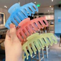 Claw Clip for Women Tough Colorful Plastic Hair Claw Large Size Hair Clips Crab