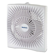 "Holmes 10"" Personal Size Box Fan Plastic White HABF120WN"