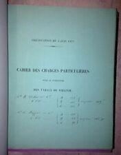 FOURNITURE DES TABACS 1876-1880 CAHIER DES CHARGES DE DIFFERENTS PAYS