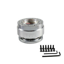 Aluminium Car Steering Wheel Quick Release HUB Adapter Snap Off Boss Kit SILVER