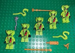 Lego Minifigure Ninjago Green Snake Tribe ~ 2 Different Lasha /& Weapons
