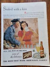 1944 Schlitz Beer Ad Postman 1944 Thompson Ad WW 2 Liberators Marines Humphrey