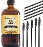 Jamaican Black Castor Oil (6oz) with 10 pcs Applicators by Sunny Isle