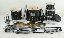 Pearl Roadshow Rs505C/C 5-Piece Complete Drum Set with Cymbals - Jet Black