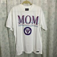 Vintage Springfield College Mom T Shirt Jansport Made in USA Large