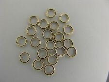 14K Solid Gold Open Jump Rings Jumpring diameter 3.8mm New Polished (20) item #9