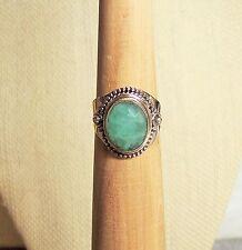 M7AJ/ Emerald Sterling Silver Ring TGW 6.30ct