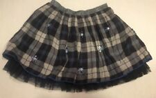 Monsoon Girls Skirt Blue Plaid Size 5-6 Years New