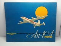Advertising Brochure of Soviet Airlines AEROFLOT USSR Aircraft AN-10A 1960